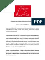 Llamamiento Del Movimiento Continental Bolivariano