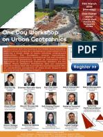 GeoSS One Day Workshop on Urban Geotechnics v2