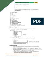 Nusring Case Analysis Format