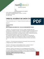 Ley 20830 Acuerdo de Union Civil Mayo 2015