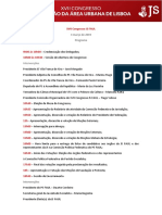 Programa - XVII Congresso JS FAUL