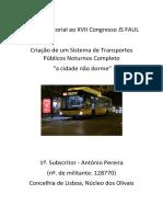 Criação de Um Sistema de Transportes Públicos Noturnos Completo - António Pereira
