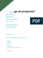 Código de Programa calificaciones alumnos