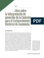 Julieta Rostica - Análisis crítico sobre la interpretación de genocidio de la Comisión para el Esclarecimeinto Histórico de Guatemala
