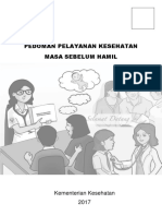 Buku Pedoman Pelayanan Kesehatan Masa Sebelum Hamil