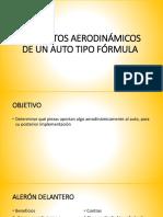 Elementos Aerodinámicos de Un Auto Tipo Fórmula