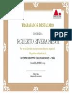 Diploma Trabajador Destacado