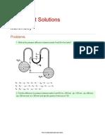 Worksheet Solutions Manometry 1