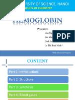 Hemoglobin presentation