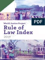 Indice Estado de Derecho 2019