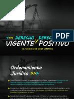 Derecho Vigente y Positivo