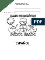 EXAMEN DE  QUINTO GRADO