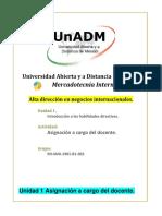 Unidad 1. Introduccion a Las Habilidades Directivas