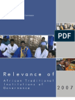Relevance of Traditional African Leadership