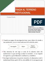 La entrada al Terreno Institucional Cristian Varela