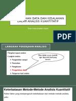 Pengolahan Data Dan Teori Kesalahan Analisis Kimia Kuantitatif