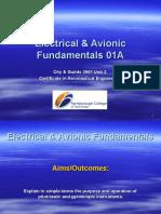 Electrical & Avionic Fundamentals 01A