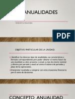 Explicacion ANUALIDADES Monto,Capital, Vencida