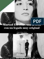 César Urbano Taylor - Marisol Escobar, Una Artista Con Un Legado Muy Original