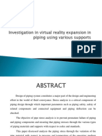 Investigation in virtual reality expansion in piping using various supports.pptx