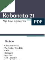 Kabanata 21-22