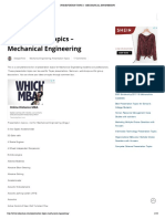 Presentation Topics - Mechanical Engineering