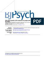 The SQLSSelf-report Quality of Life Measure for People With Schizophrenia