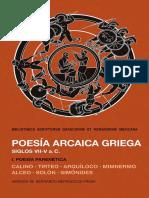 POESÍA ARCAICA GRIEGA (SIGLOS VII-V a. C.) TOMO I BLIBLIOTHECA SCRIPTORVM GRAECORVM ET ROMANORVM MEXICANA.pdf