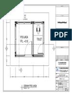 Desain Pos Jaga File Dwg