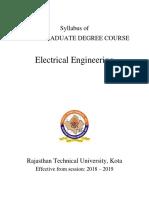 syllabus of rtu b.tech. 4th semester