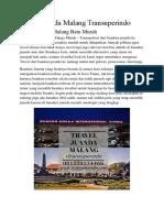 Travel Juanda Malang Murah Transuperindo