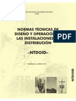 NORMAS TECNICAS DE DISEÑO Y OPERACION