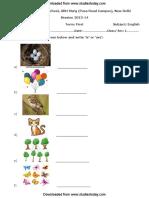 CBSE Class 1 English Worksheet (4)