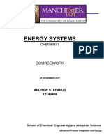 CHEN64341 Energy Systems Coursework Andrew Stefanus 10149409
