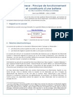 6107 Annexe Principe de Fonctionnement Et Constituants Dune Batterie Ens