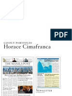 Horace Cimafranca Layout Portfolio