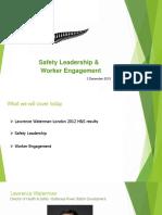 Safety Leadership Presentation