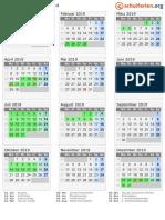 Kalender 2019 Saarland Hoch