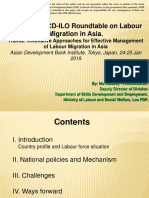 Lao PDR Country Presentation