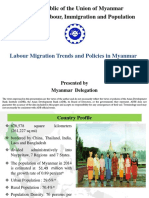 Labour Migration Trends and Policies in Myanmar