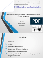 The Current Development and Future Perspectives for Foreign Workforce