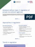 Regulation of Private Recruitment Agencies
