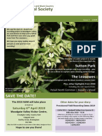 B&BC Botanical Society Newsletter - Issue 5 (2018)