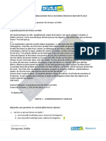 Soluzione Completa Francese, simulazione Liceo Linguistico