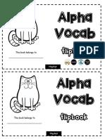 AlphaVocab Flipbook