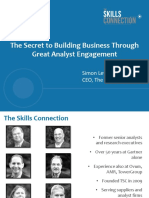 Building Business Through Analyst Engagement 11-2-16