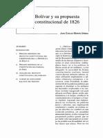 Bolívar y su Propuesta Constitucional de 1826 - Juan Carlos Morón Ursina.pdf