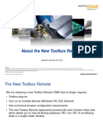 About the New Toolbox Remote