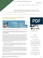 Redes Sociales Más Peligrosas
