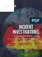 Brochure Incident Investigations in Search of the Prime Root Cause of Major Inciden
